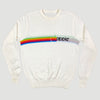 80's Apple Knitted Cream Sweatshirt