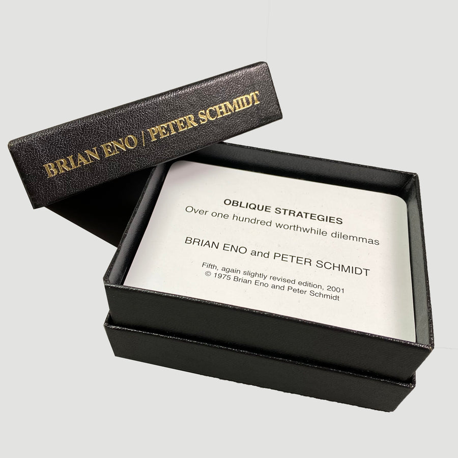 2001 Brain Eno / Peter Schmidt 'Oblique Strategies' Card Set