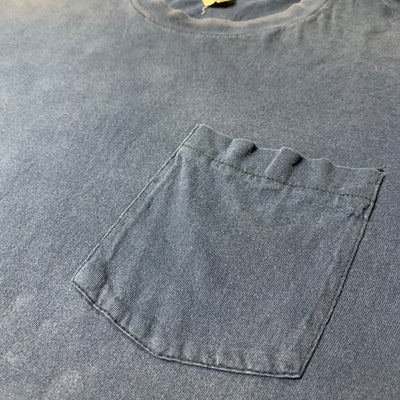 80's Basic Navy Blue Pocket T-Shirt