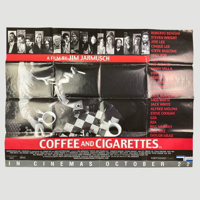 2003 Coffee and Ciggeretes UK Original Quad Cinema Poster