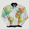 Early 90's Wearin' The World Globe Print Shell Jacket