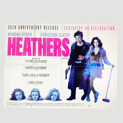 2002 Heathers' UK Quad Cinema Poster