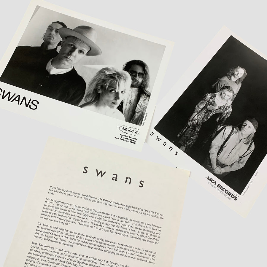 1989 Swans 'The Burning World' Press Kit