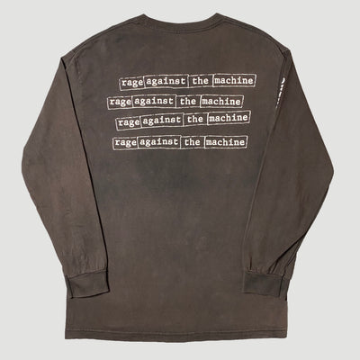 Mid 90's Rage Against The Machine 'Power Stems...' Long Sleeve T-Shirt