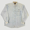 90's FedEx Staff Denim Chambray Shirt