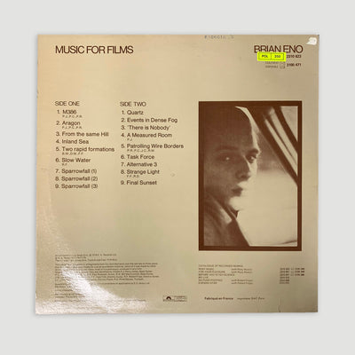 1978 Brian Eno 'Music For Films' LP