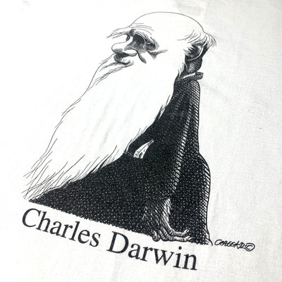 Early 90's Charles Darwin Largely Literary T-Shirt