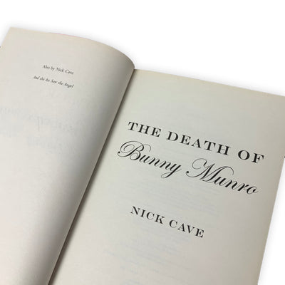 2009 The Death of Bunny Munro First Edition
