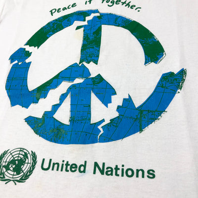 Late 80's United Nations Peace It Together T-Shirt