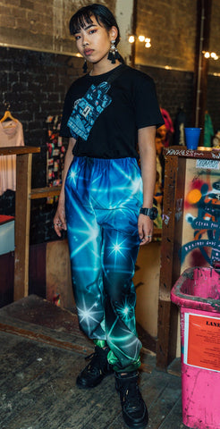 shi jen galaxy pants, allergies clothing, poeca bags, runway show adelaide, mixed spice creative studio, sustainable clothing co, ethical fashion, sustainable streetwear