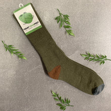 Load image into Gallery viewer, Hemp Socks in Military Green