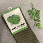 Hemp Socks in Military Green
