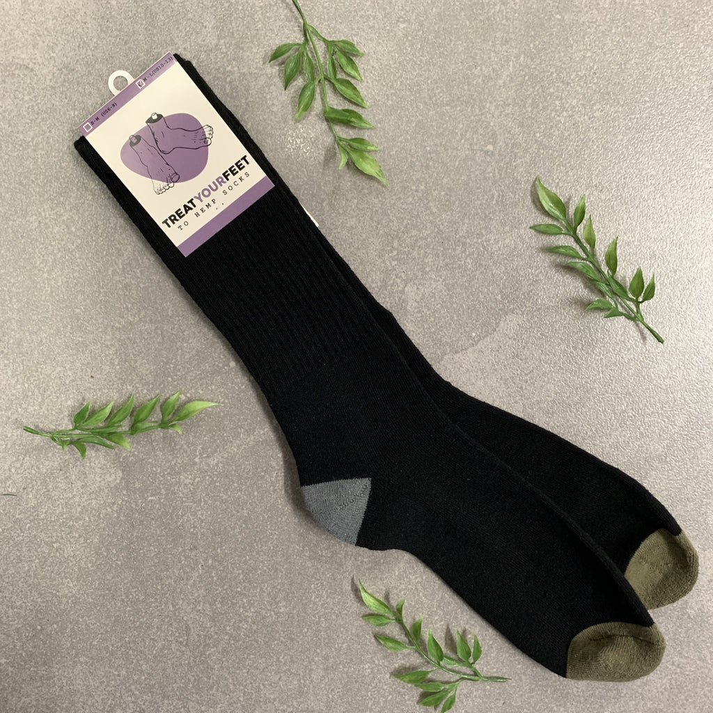 Hemp Socks in Black