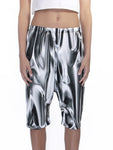 Recycled Fabric Liquid Metal Shorts