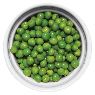 Doggiecatessen Green Peas in ramekin natural healthy home-made cooked pet food