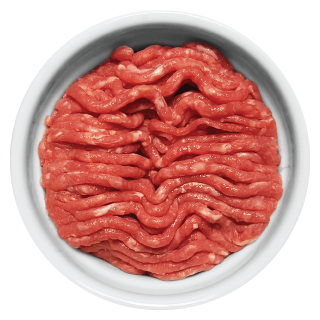 Doggiecatssen Ground Beef in ramekin natural healthy home-made cooked pet food