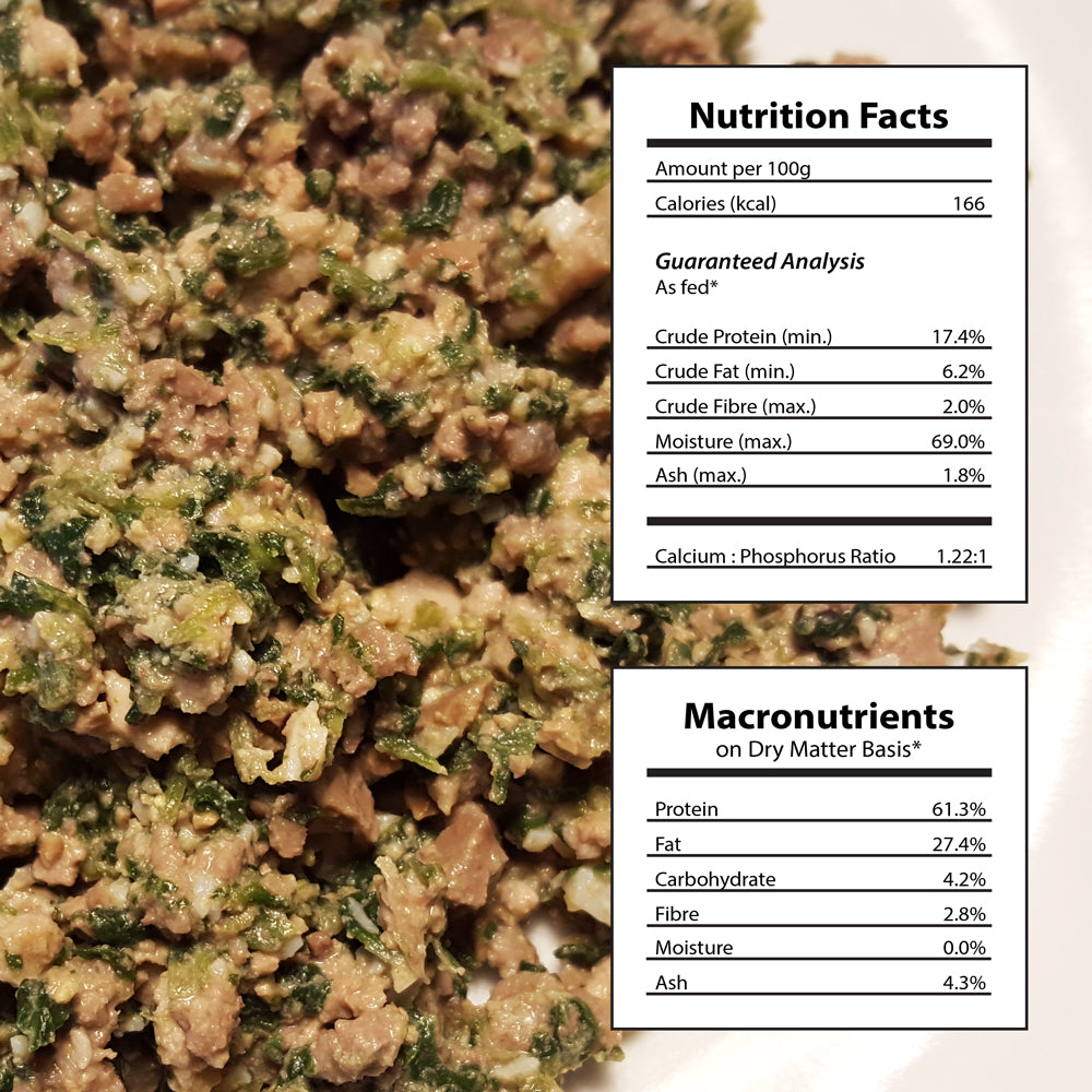 14 packages Homemade Cat Food Beef Chicken Recipe Nutritional Facts