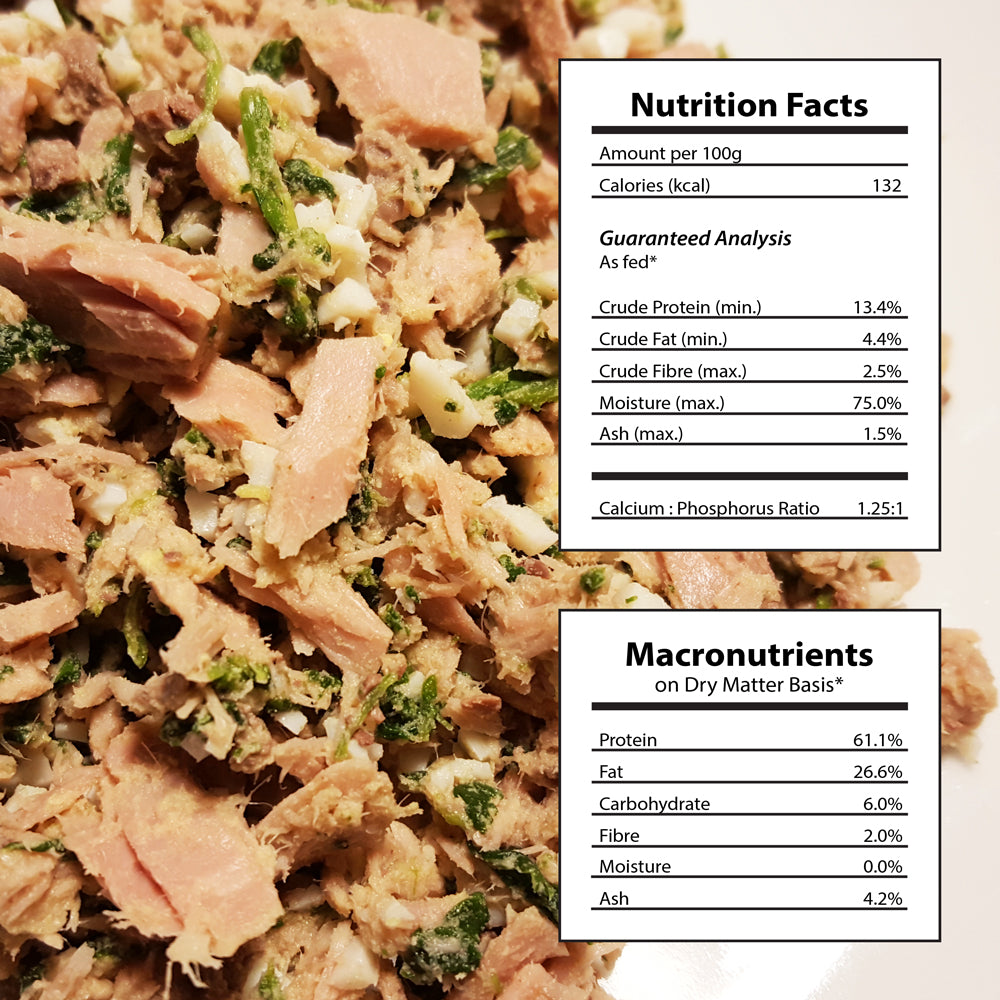 Doggiecatessen Homemade Cat Food Tuna Egg Recipe Nutritional Facts 31 packages