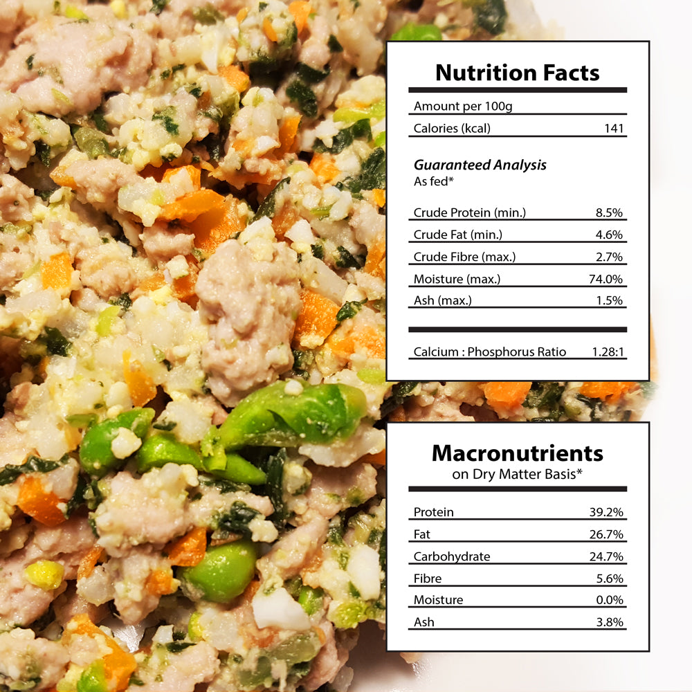 Doggiecatessen Homemade Dog Food Chicken Brown Rice Recipe Nutritional Facts 31 packages