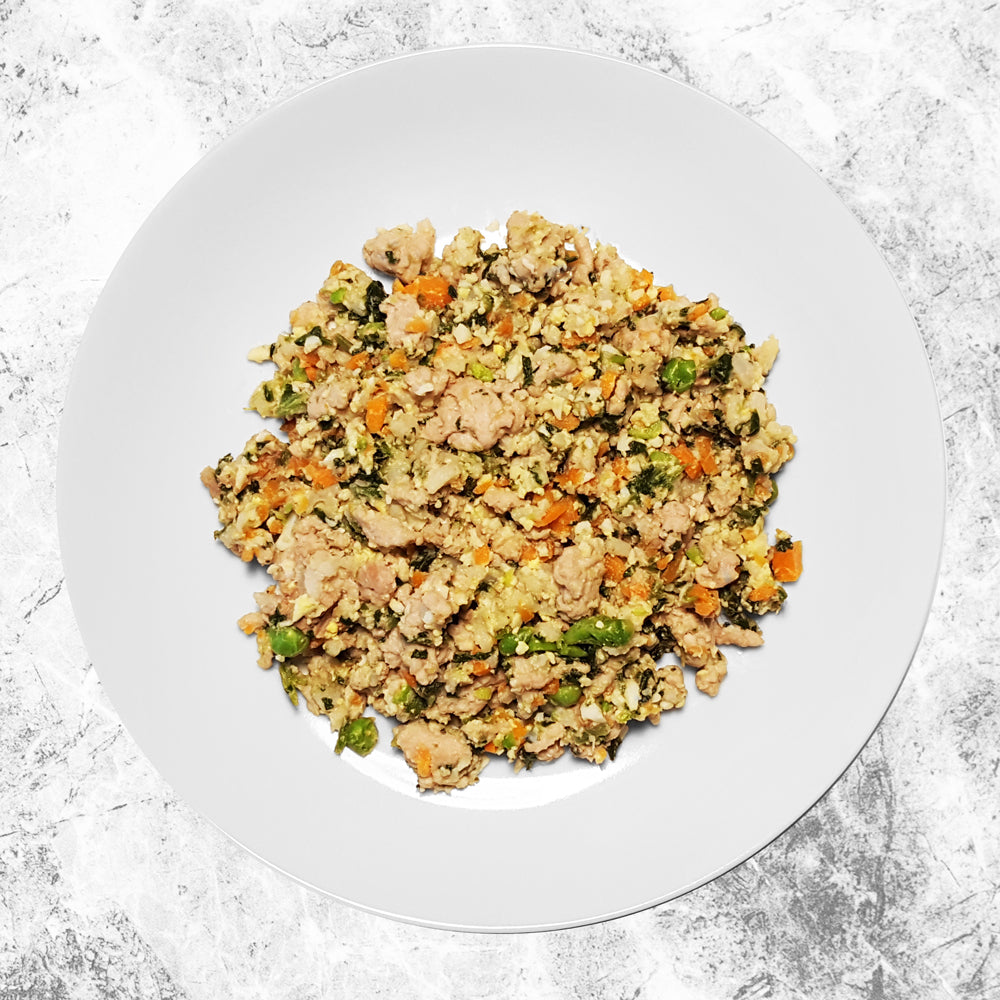 Doggiecatessen Homemade Dog Food Chicken Brown Rice Recipe In A Plate 7 packages