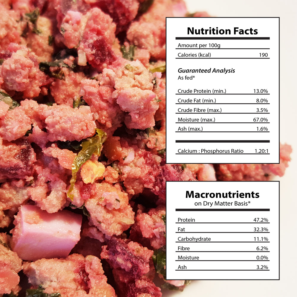 Doggiecatessen Homemade Dog Food Pork Lentils Recipe Nutritional Facts 7 packages