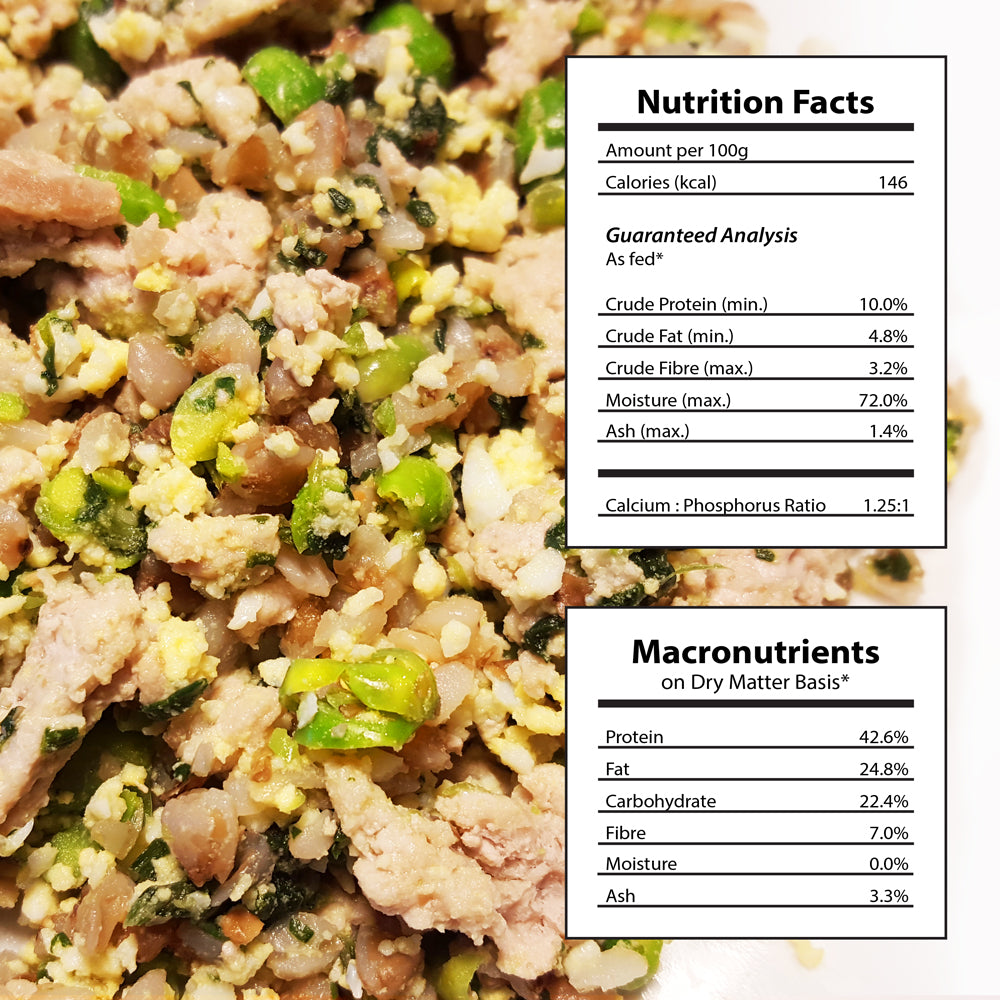 Doggiecatessen Homemade Dog Food Turkey Buckwheat Recipe Nutritional Facts 7 packages
