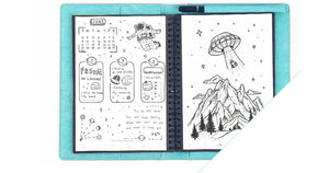 Elfinbook™ Sketcher 2019  - Smart Erasable Notebook with Leather cover