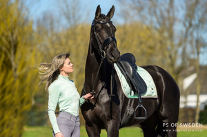 PS Of Sweden Monogram Jump or Dressage Saddle Pad with Matching Polo Bandages - Summer Edition