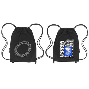 RECYCLE OR DIE GYM BAG / BLACK