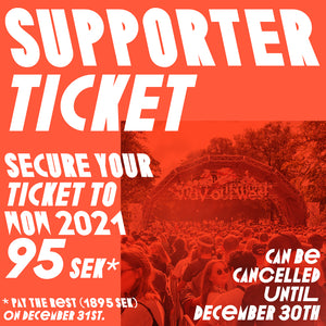 SUPPORTER TICKET 2021 3-Day Ticket Standard Age 18+