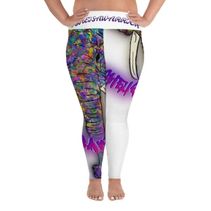 #SHEISAWARRIOR All-Over Print Plus Size Leggings