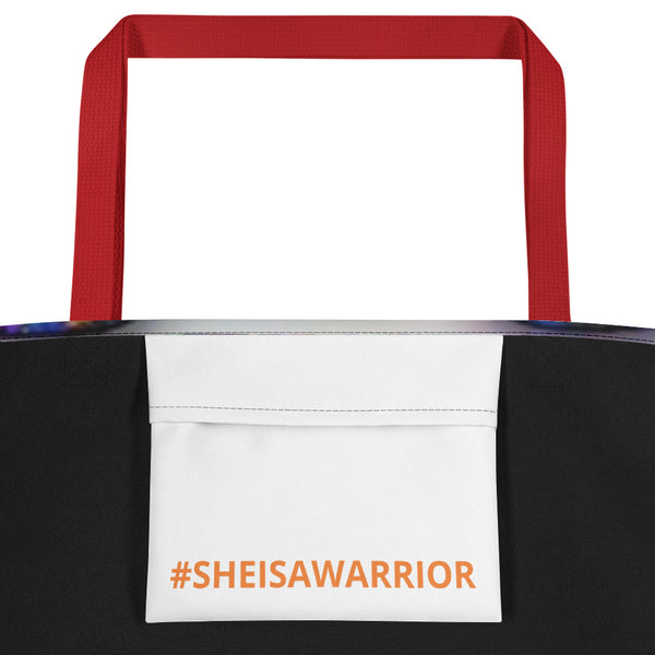 #SHEISAWARRIOR Beach Bag