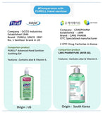 Advanced Hand Sanitizer Gel 500ml Aloe & Vitamin E - Pump, 5 Pack of 16.9 OZ (500ml Each)