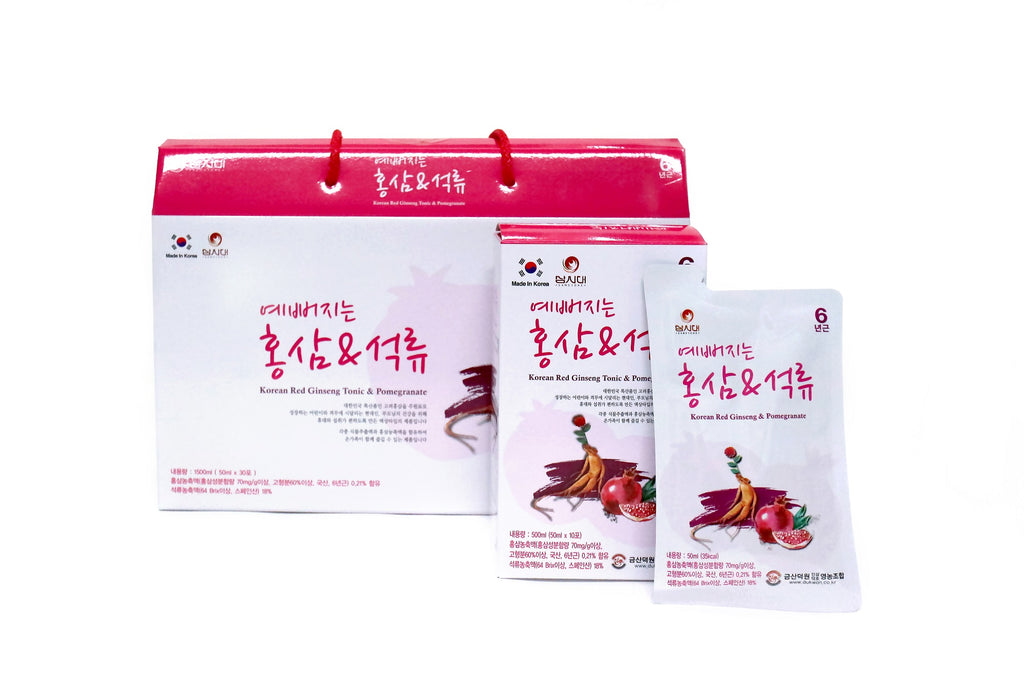 Korean Red Ginseng Tonic & Pomegranate
