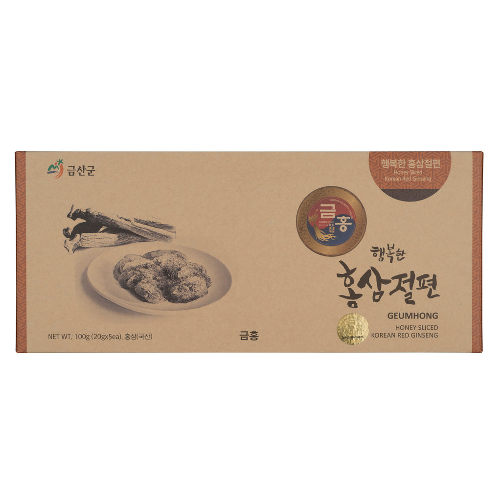 Korean Red Ginseng Honeyed Slice Root 100g