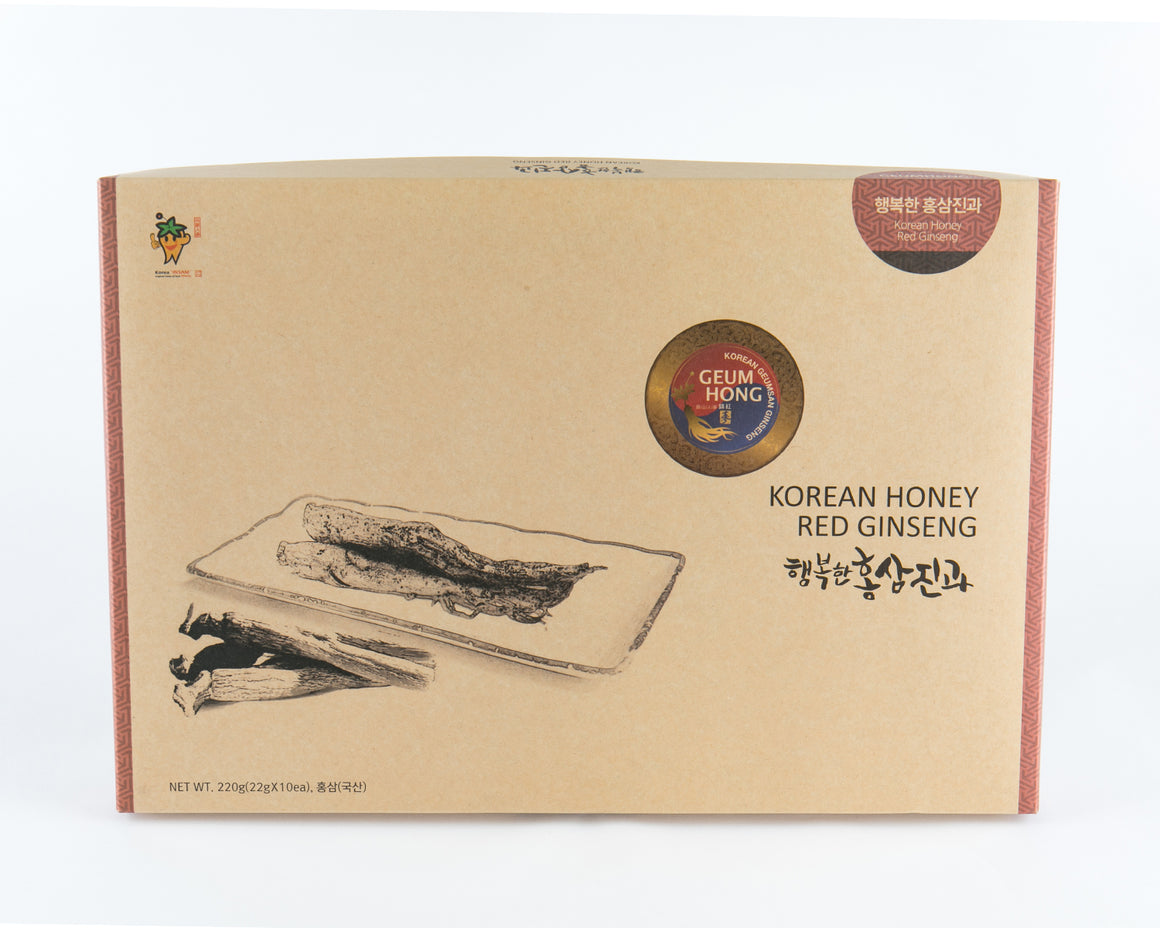 Korean Red Ginseng Honeyed Whole Root 220g