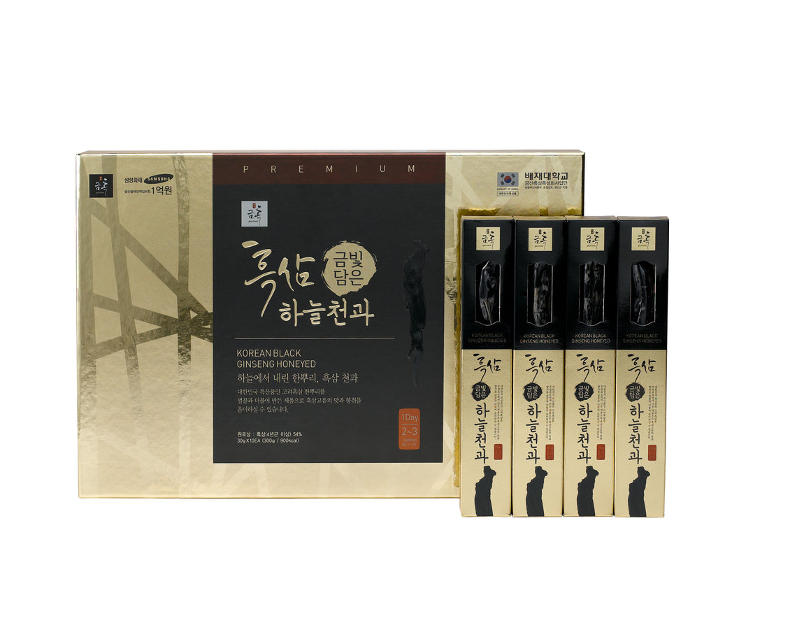 Korean Black Ginseng Honeyed Whole 300g