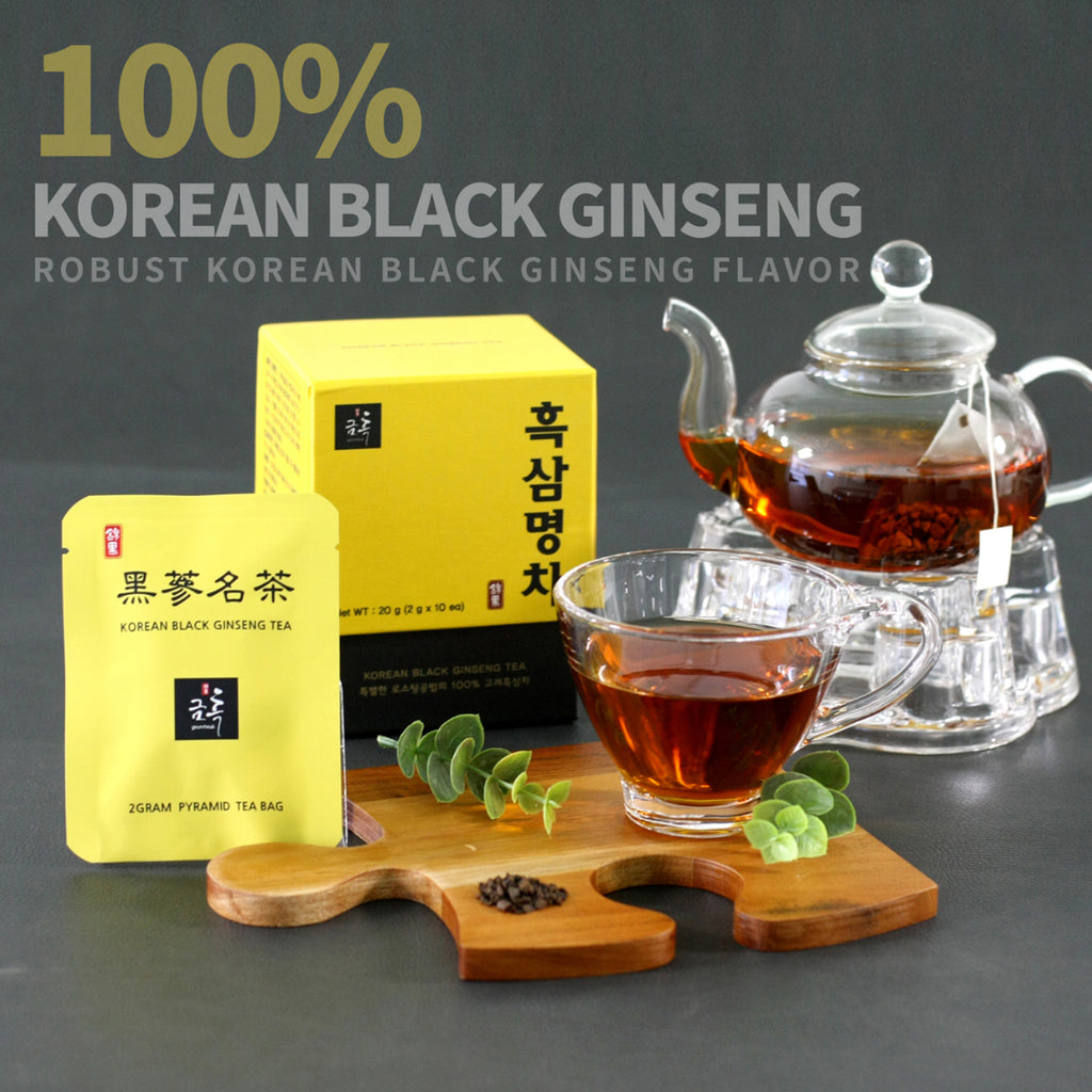 Korean Black Ginseng Puffed Tea 100%