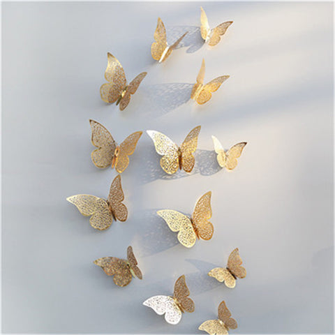 12 piece 3D Butterfly Wall Sticker Decals