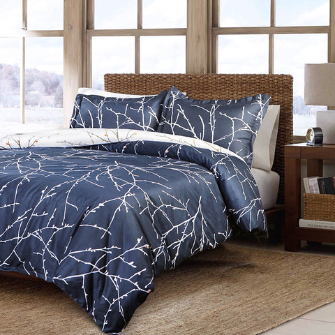 Double Sided Branch Duvet Bedding Set