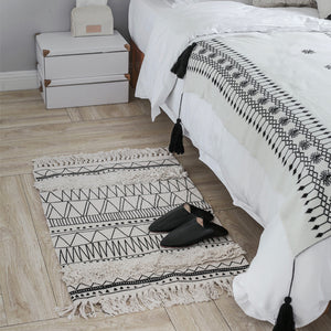 100% Cotton Geometric Indian Rug