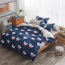 Double Sided Plant Duvet Bedding Set