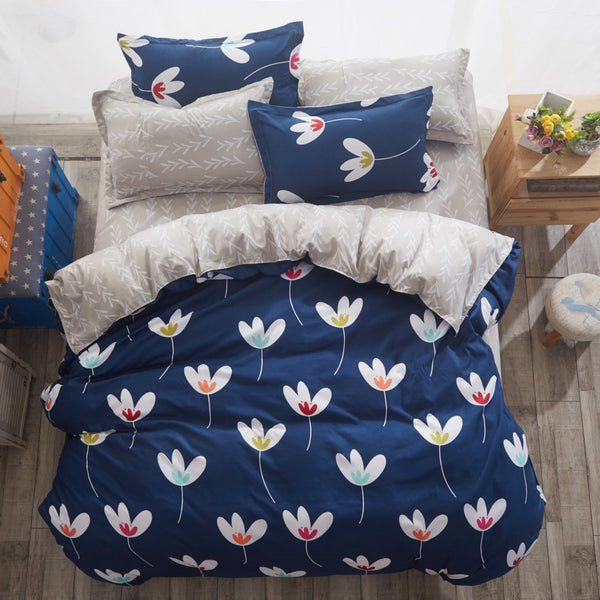 | Double Bedding Set | Double Sided Plant Bedding Set | Sided Plant Duvet Bedding Set | Duvet Bedding Set | Bedding Set | bedroom |