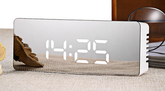 Multifunction LED Digital Mirror Alarm Clock