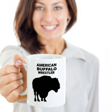 Gal Holding American Buffalo Wrestler 11oz. White Coffee Cup