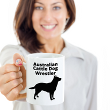 Gal Holding Australian Cattle Dog Wrestler 11oz. Coffee Cups