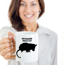 Gal Holding Opossum Wrestler White 11oz. Coffee Cup