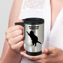 Raccoon Wrestler Travel Mug