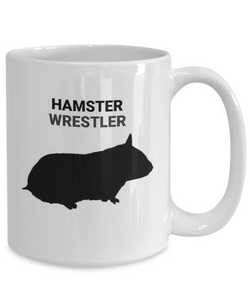 Hamster Wrestler White Coffee Cups