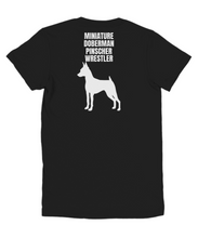 Miniature Doberman Pinscher Wrestler Black Youth T-Shirt